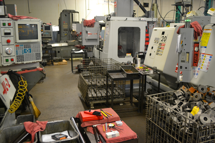 CNC lathes and mills at Triple E Mfg